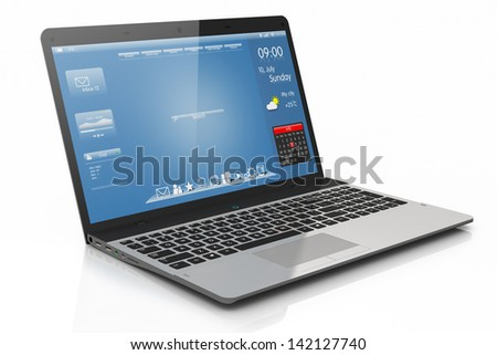 Computer mobility. Interface. - stock photo