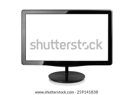 Computer monitor isolated on a white background - stock photo