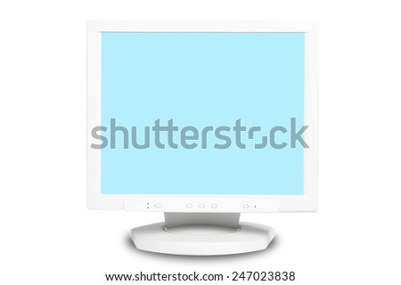Computer monitor isolated on white background. Electronics