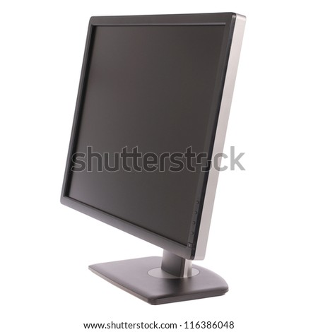 Computer monitor on white background. Clipping path included. Separate clipping path to the screen - stock photo