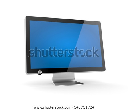 Computer Monitor with reflection - stock photo