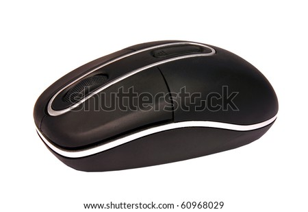 Computer mouse isolated over white