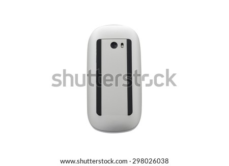 Computer mouse on a white background, close-up - stock photo