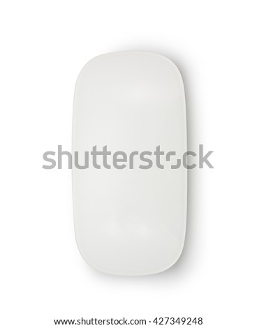 computer mouse on a white background close-up - stock photo