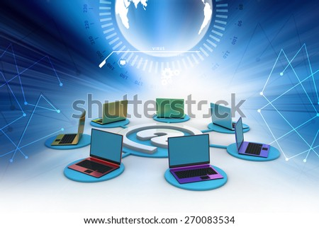 Computer network  - stock photo