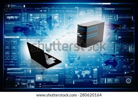 Computer Network - stock photo