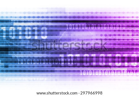 Computer Network LAN System in 3d Abstract - stock photo