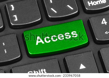 Computer notebook keyboard with Access key - technology background - stock photo