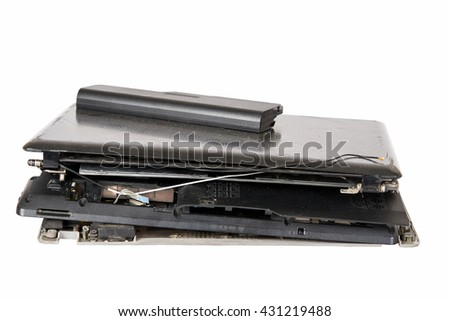 computer notebook recycling - stock photo