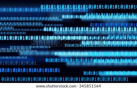 computer 01 number concept - stock photo