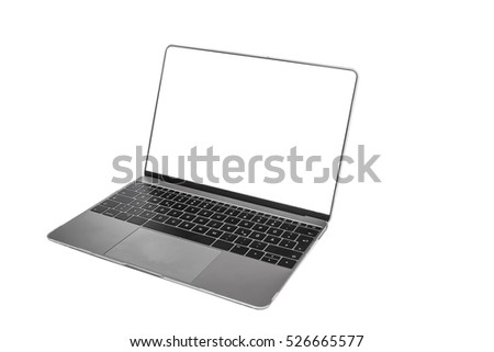 computer office supplies and gadgets laptop , notebook isolate On a white background  With Clipping path.