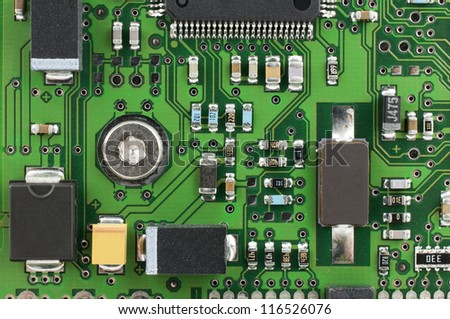 Computer PCB Electronic Components Stock Photo (Royalty Free ...
