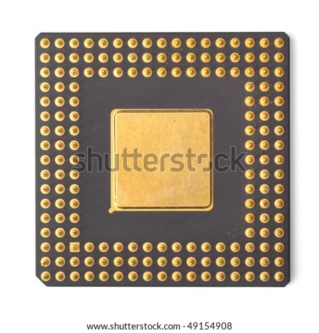 computer processor isolated on white - stock photo
