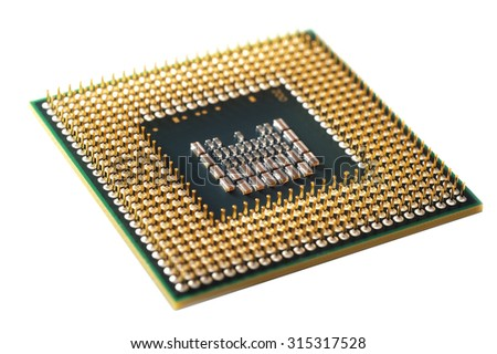 computer processor on a white background isolated