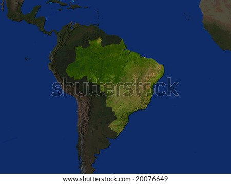 Computer Render Of Brazil Highlighted