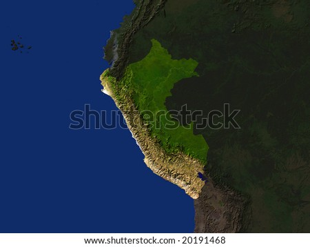 Computer Render Of Peru Highlighted