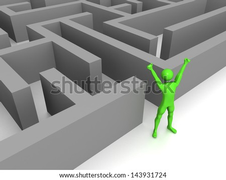Computer Rendered Graphic for the concept of Success - stock photo