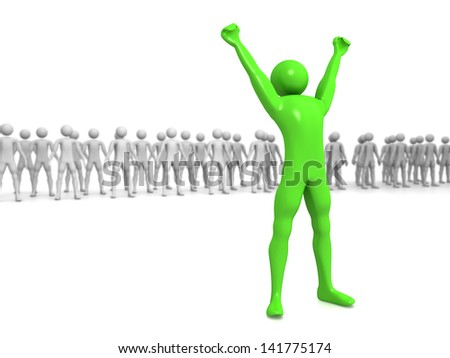 Computer Rendered Graphic of a concept for success and achievement - stock photo