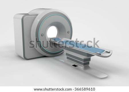 Computer rendered illustration one MRi - stock photo