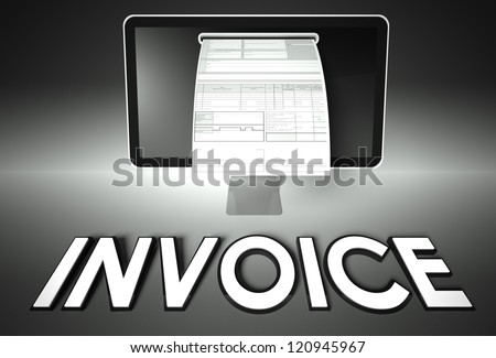 Transaction Number On Receipt Einvoice Stock Images Royaltyfree Images  Vectors  Shutterstock How To Print Invoice with Linux Invoicing Software Word Computer Screen And Invoice With Word Invoice Tax Concept Invoice Price Pdf