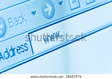 computer screen macro with internet www