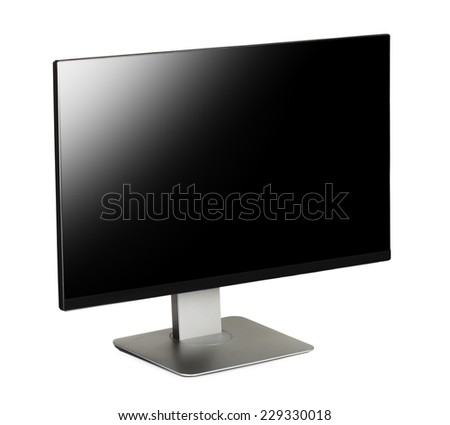 Computer screen on a white background