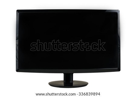 computer screen on white isolated