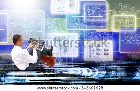 Computer security.Programming - stock photo