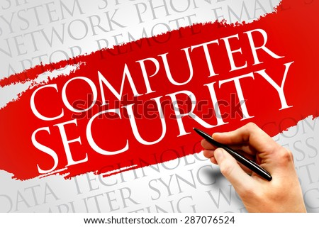 COMPUTER SECURITY word cloud concept - stock photo