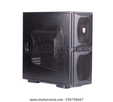 Computer system unit. Isolated on a white background.