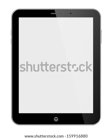Computer tablet 3D - stock photo