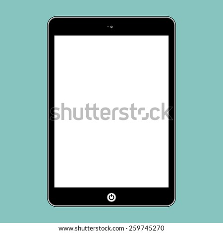 Computer tablet. Illustration Similar To iPhone iPad. - stock photo