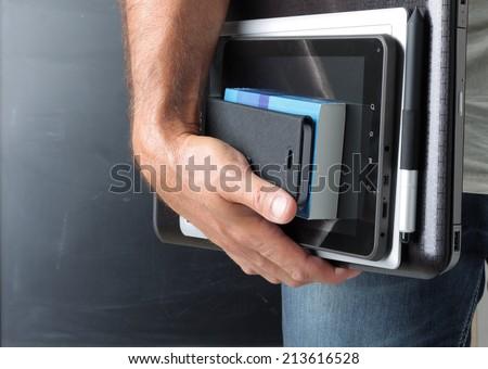 Computer teacher - stock photo