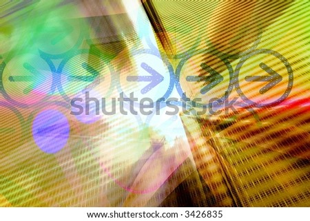 Computer technology abstract - IT business background - stock photo
