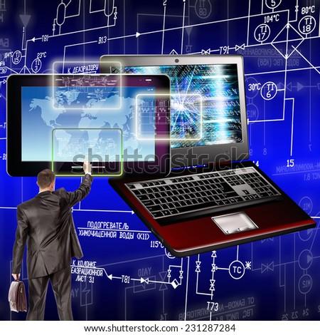 Computer technology.Generation - stock photo