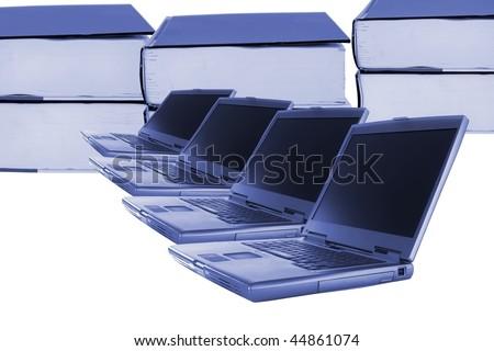 Computer training - stock photo