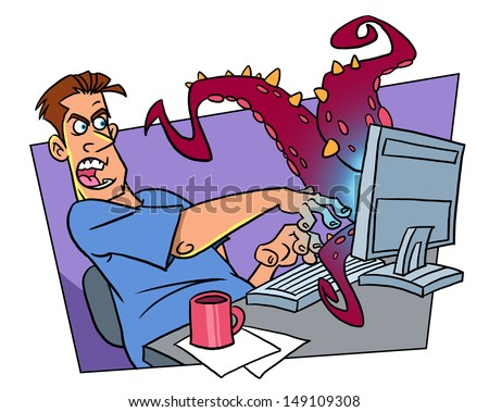 Computer virus - stock photo