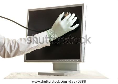 computer virus - stock photo