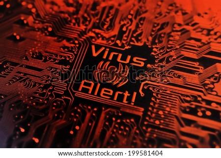 computer virus - virus alert - stock photo