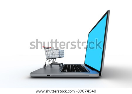 Computer with shopping cart