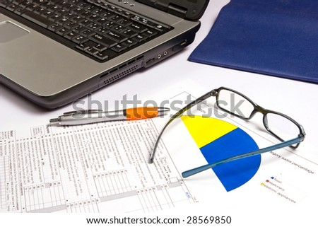 computer work - stock photo