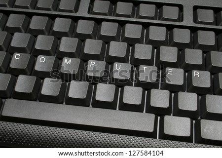 Computer -written on keyboard