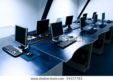 computers in corporate office