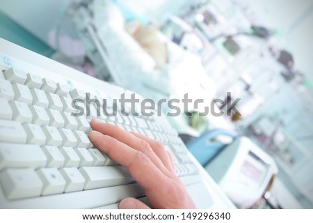 Computers in Medicine - stock photo
