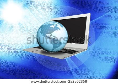 Computers Internet technologies.Internet concept.Connection - stock photo