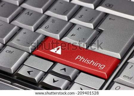Compuyrt key - Phising - stock photo