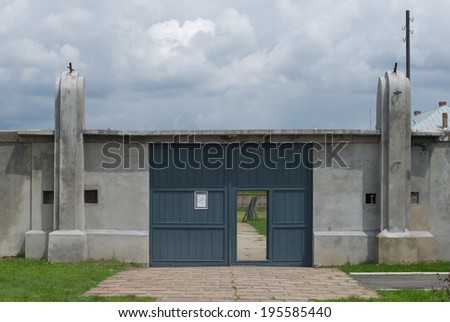 concentration camp, Crveni Krst, Red Cross, Nis, Serbia - stock photo