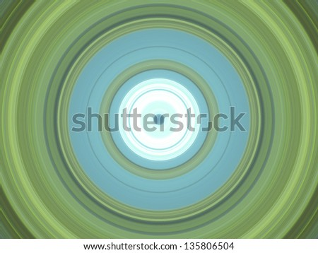 Concentric Circles green and light blue - stock photo