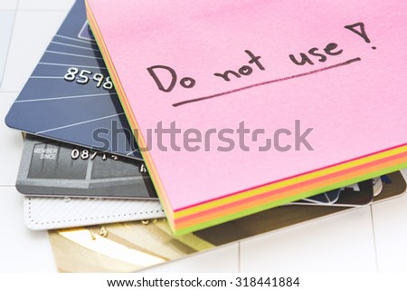 Concepcion no credit card can not buy. - stock photo