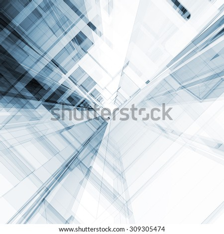 Concept. Architecture design and model my own - stock photo